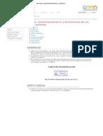 Normas, acondicionamiento y dimensiones de los envíos postales