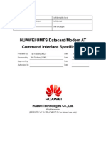 HUAWEI UMTS Datacard Modem at Command Interface Specification