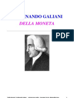 DELLA MONETA - Ferdinando Galiani. Libro