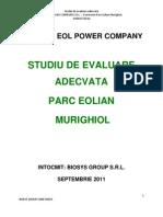 Evaluare Adecvata Parc Eolian MURIGHIOL 2 Rev1