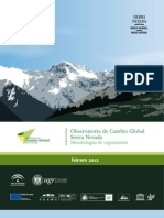 Observatorio de Cambio Global Sierra Nevada. Metodologias de seguimiento.
