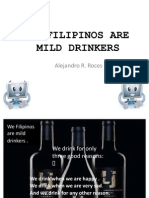 We Filipinos Are Mild Drinkers