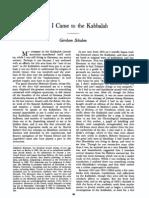 18012541 Gershom Scholem How I Came to the Kabbalah