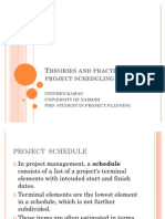 Theories and Practice in Project Scheduling