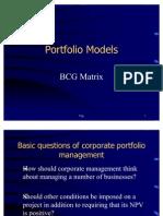 5. Portfolio Models