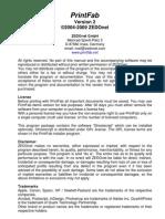 Printfab Manual