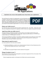 Explication Des Erreurs Interceptables Dans Visual Basic Pour Applications