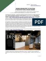 Dentist Wins Top Architecture Award