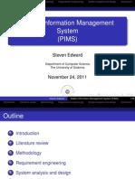 Patient Information Management System (PIMS)