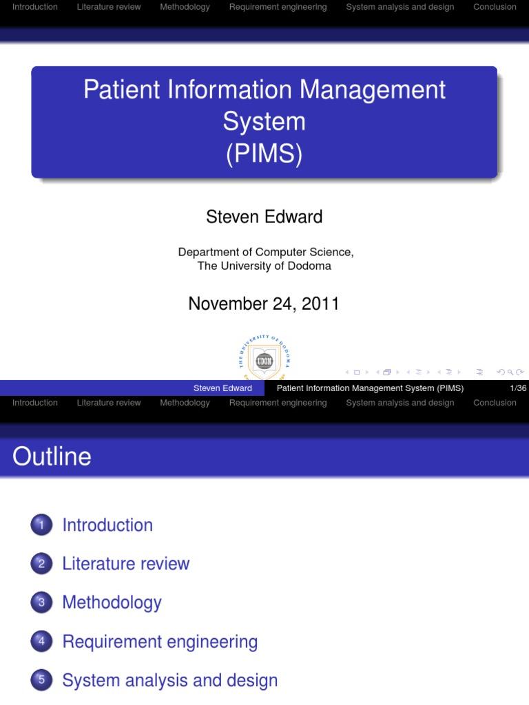 Patient Information Management System Pims Feasibility