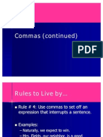 Commas (Rules 4-6)