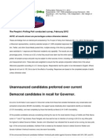 Unannounced Candidates Preferred Over Current
