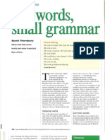 Big Words, Small Grammar