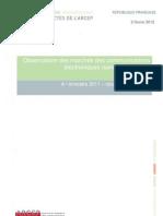 Observatoire des marchés des communications électroniques (services mobiles)
