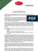 Astorg - Communiqué de Presse - SCT Telecom