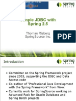 SimpleJDBC Development With Spring 2_5 and MySQL Presentation