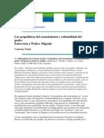 GEOPOLÍTICAS DEL CONOCIMIENTO Y COLONIALIDAD