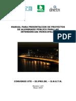 Manual de Proyectos de Alumbrado Publico