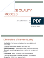 Service Quality Models PPT