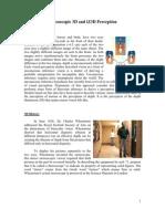 Stereoscopic 3D and iZ3D Perception