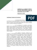 Informe Comision Mixta Presupuesto 2009