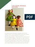 Mão Mimi Kirchner boneca feltro costurada
