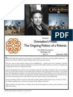 Orientalism's Wake - The Ongoing Politics of a Polemic