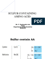 Sulfur Containing Amino Acid