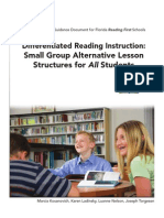 Small Group Alternative Lesson Structures