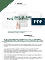 eBooks Und eReader - Marktpotenziale in Deutschland 2009 Kirchner Robrecht