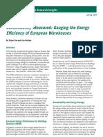 Sustainability Measured Gauging the Energy Efficiency of European Warehouses