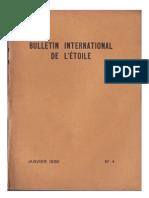 Bulletin International de L'Étoile N°4 Janvier 1930 par J. Krishnamurti