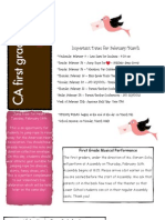 First Grade News Feb