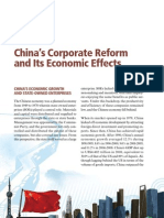 Chinas Corporate Reform and Its Economic Effects