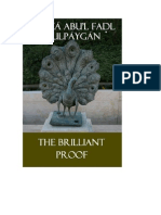 The Brilliant Proof by Mirzá Abu'l Fadl Gulpáygán