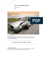 Cómo sobrevivir a un accidente de auto