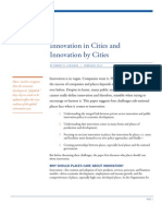 Innovation in Cities and Innovation by Cities