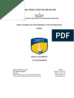 Vhdl Simulation of Fir Filter