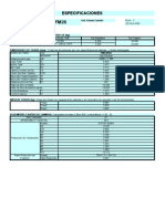 Fm26 Especificaciones