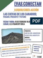 Cartel Charla Cuevas Los Canarios