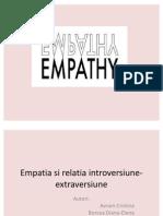 Empatia Si Relatia Introversiune-extraversiune