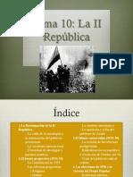 10. La II República 1ª parte