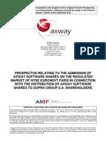 Prospectus Axway English Version Final