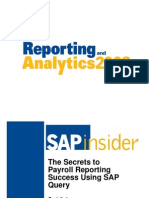 The Secrets to Reporting Success Using SAP Query