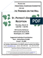 St. Patrick's Day Reception
