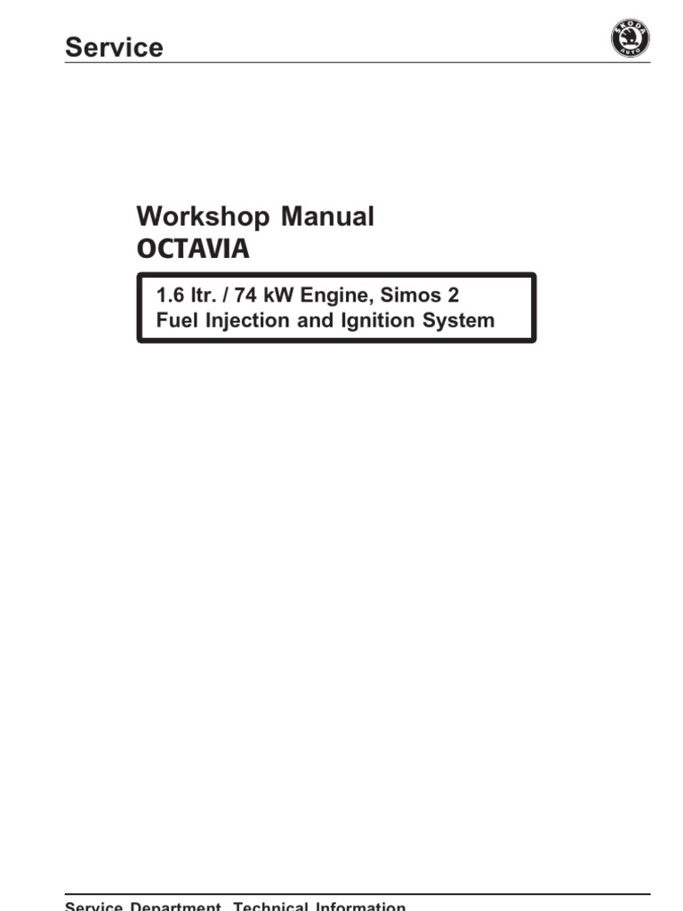 Manual Skoda Octavia 16 74kw Fuel Injection Throttle Central Locking Wiring Diagram