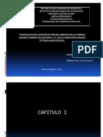 PROPUESTA DE CONSTRUCCIÓN DE ANEXOS EN LA TIENDA MAKRO COMERCIALIZADORA  S.A. EN EL MUNICIPIO ANACO ESTADO ANZOÁTEGUI.