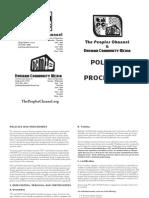 Policies Procedures Sept2011 Web