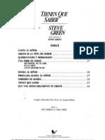 Steve Green - Tienen Que Saber (Par)