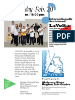 LaVolta Swiss Youth ensemble poster